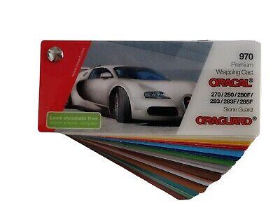 Oracal 970 Premium Wrapping Cast Farbfächer Musterfächer