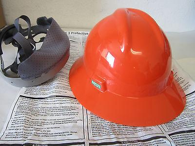 New Msa V-gard Fire Fighter Costume Construction Worker Hard Hat Helmet