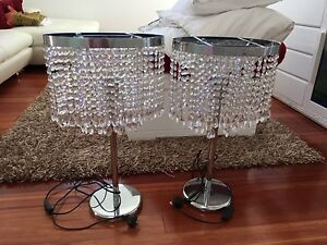 Crystal Lamps x 2 Greenacre Bankstown Area Preview