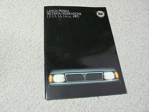 1986 LANCIA PRISMA (ITALY) SALES BROCHURE.....