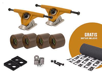 RAM Longboard Setup Achsen Trucks Rollen Skateboard + Gratis  Longboard Griptape