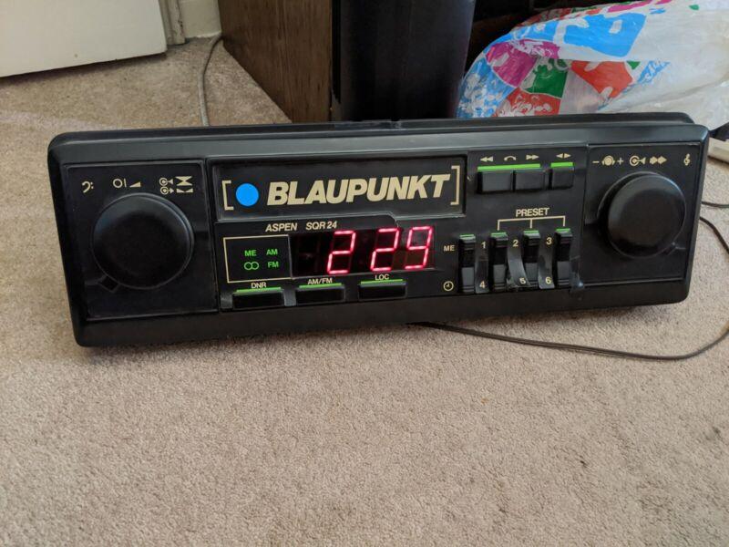 blaupunkt radio/clock wall display-VINTAGE RARE COLLECTIBLE