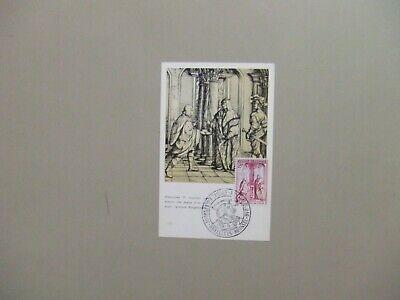 Belgium 1957 Painting maxi card.