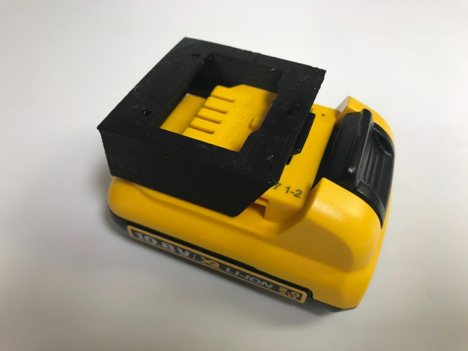 Dewalt battery organizer chrome storage rack