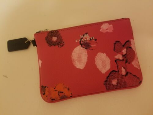 Coach Pink Floral Pattern Bag