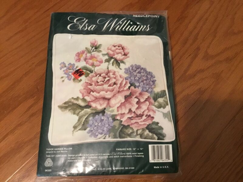 Elsa Williams Needlepoint Tudor Garden Pillow Kit 12 x 12 06355