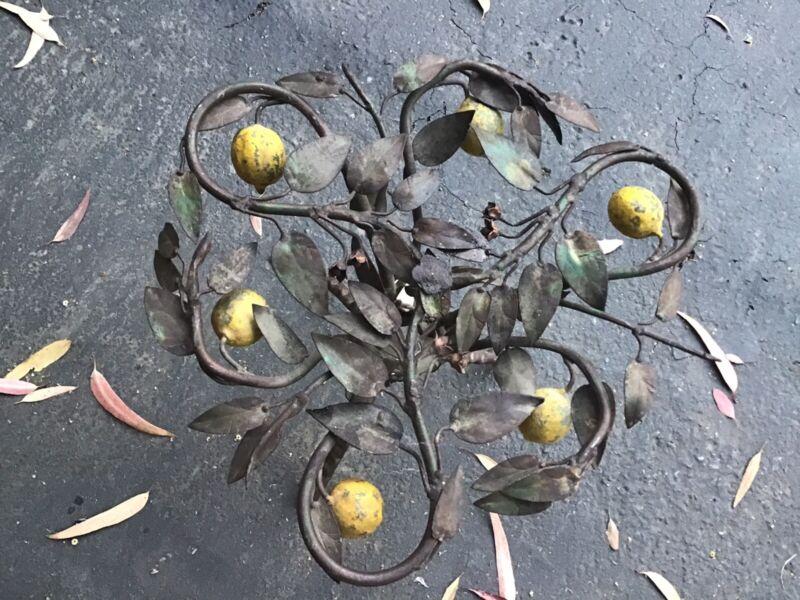 Antique Italian Lemon Tole Table