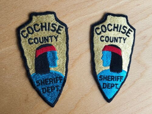 Arizona Police Cochise County Sheriff Department Set of Right and Left Patches