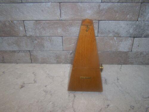 Vintage Seth Thomas Fruit Wood Pyramidal Wind-Up Metronome