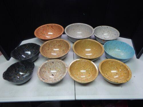 TEXASWARE splatter confetti bowl lot of 11
