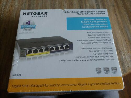 NETGEAR GS108PE300NAS 8-Ports Standalone Easy Smart Managed