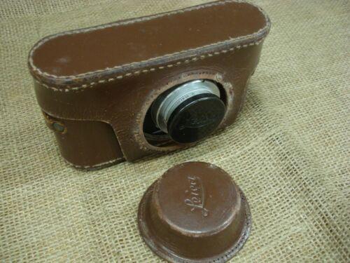 Vintage Leica DRP Ernst Lietz Wetzlar  film camera with leather case