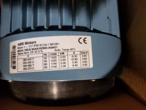 ABB Electric Motor - GAA102302-ASAG1 3kW M2AA100LC4B3
