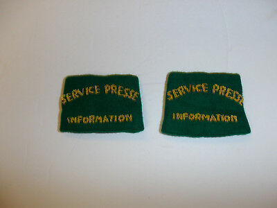 c0390p WW 2 French Military Service Presse Information Shoulder pair Press R10E