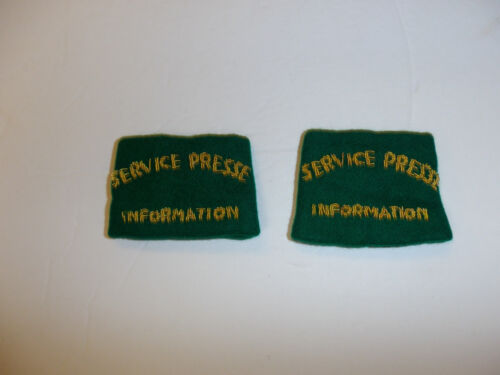 c0390p WW 2 French Military Service Presse Information Shoulder pair Press R10E