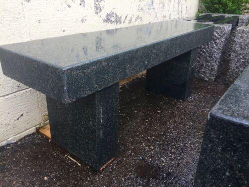 Garden bench granite stone