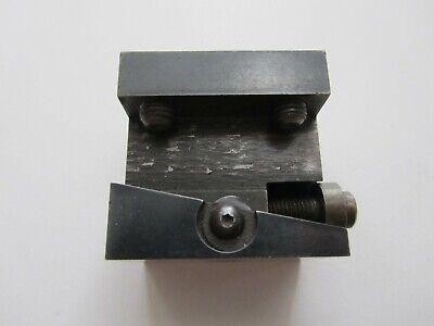 Hardinge D9 Style 38 Tool Holder Body Cross Slide Lathe Cutting Missing Wedge