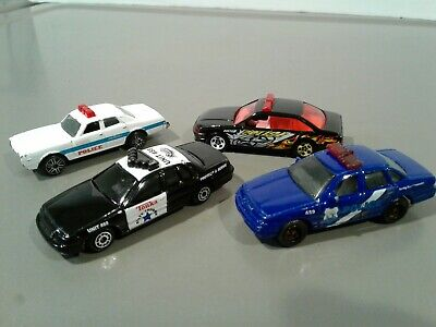 Lot of 4 Hot Wheels, Maisto, Other Police Cars