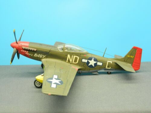 "1/48 BUILT Model Aircraft P-51D MUSTANG BUBBLE TOP ""CHOO CHOO BABY"""
