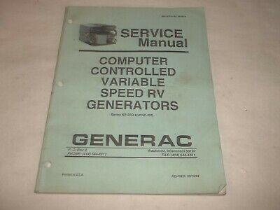 Generac Computer Controlled Variable Speed Rv Generators Service Manual