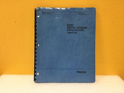 Tektronix 070-5301-01 2220 Digital Storage Oscilloscope Operators Manual