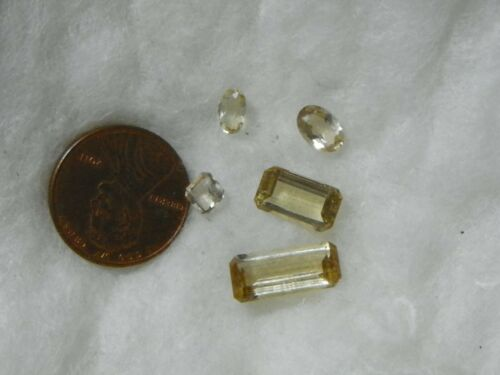 Scapolite 7.54 Carats Total Weight 5 Faceted Slight Natural Inclusions