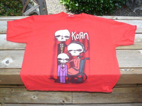 2001 Korn Munk Skeleton Family Rock & Roll T-Shirt Size XL