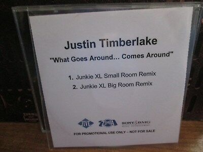 "JUSTIN TIMBERLAKE ""WHAT GOES AROUND"" SINGLE ...JUNKIE XL REMIXES..PROMO"