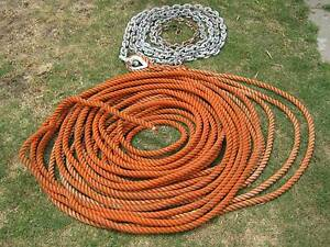 ROPE  MOORING  25 MM   PLUS  13 MM  CHAIN Wembley Cambridge Area Preview