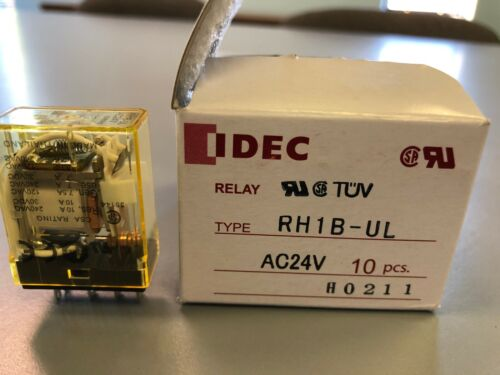 IDEC RH1B-UL 24 Volt AC Relay  Box of 10