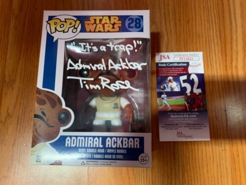 "Funko Pop Signed Tim Rose Star Wars ""Admiral Ackbar"" Voice Actor JSA Autograph"