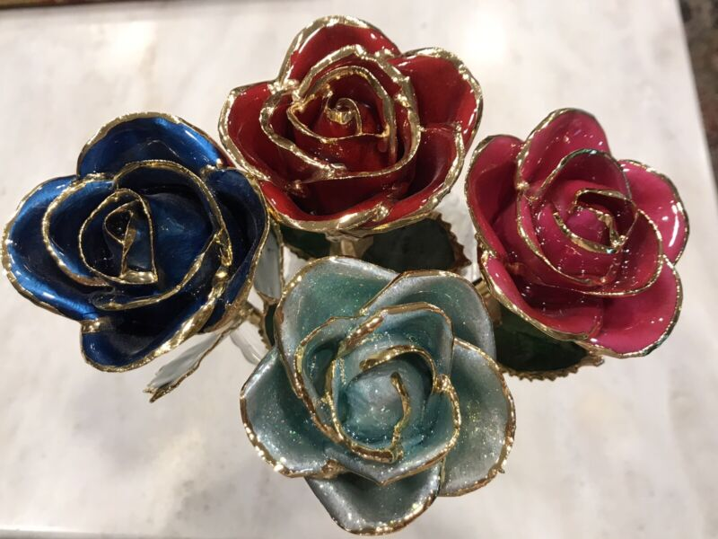 4 Gorgeous!! I Hate Steven Singer Jewelers 24k Gold Dipped Roses- Real Roses