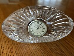 Waterford Crystal Small Oval Quartz Desk Clock, Slightly used WITH BOX