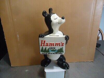 Hamm's  beer redwing ceramic 1950's advertising bear bank hamms