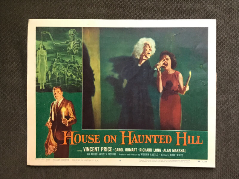 The House On Haunted Hill - Original 1959.  Lobby Card - Vincent Price