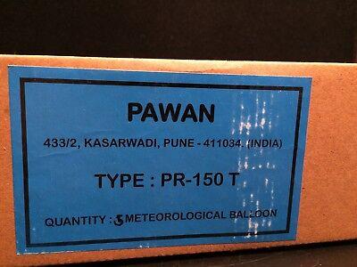 Box of 5 PAWAN TYPE PR-150T New Meteorlog Weath Balloons 150 Grams Orange/Green ](Types Of Balloons)