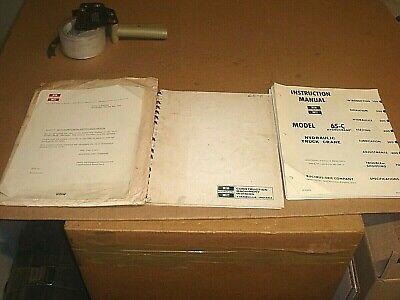 Oem Bucyrus-erie 55-c 65-c Hydrocrane  Instruction Crane Service Manual