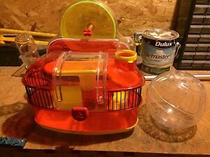 Hamster home and wheel