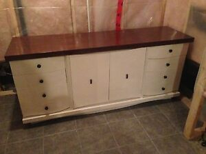 Refurbished solid wood dresser