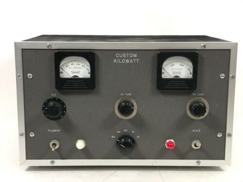 Homebrew Custom Kilowatt HAM Amplifier