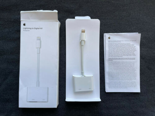 100% GENUINE Apple Lightning to HDMI Digital AV Adapter iPhone iPad MD826AM/A