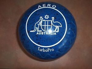 Aero TurboPro Lawn Bowls 3.5H WB25 Blue/Black Speckled Zig Zag Surfers Paradise Gold Coast City Preview