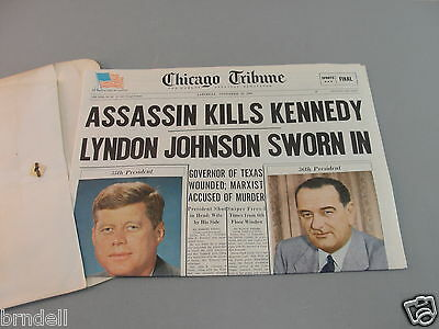 Chicago Tribune Newspaper 1964 Reprint Kennedy Assassination Johnson Oswald