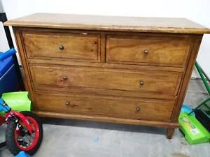 real wood cupboard