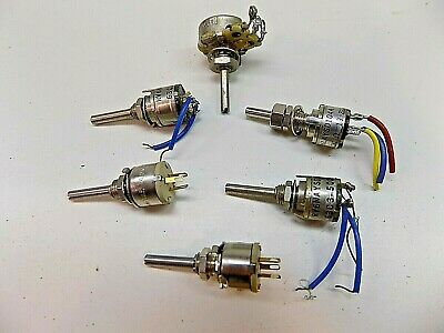 Lot Of 6 Vintage Micro Pots Potentiometers