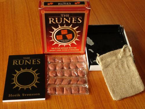 THE RUNES New Open Box STONES, BAG, Horik Svensson BOOK Fortune Telling Occult