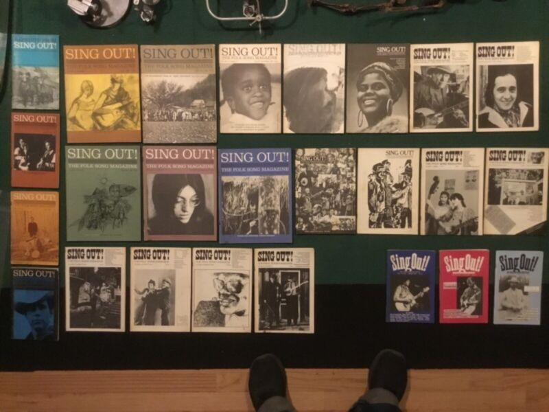 Lot of 25 vintage issues of Sing Out! Magazine 1960 to 1988 Folk Music revival
