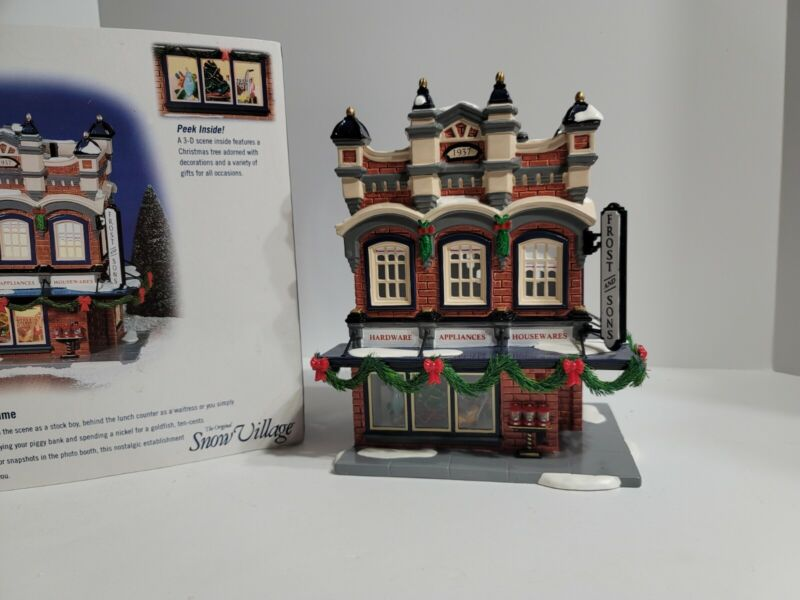 Department Dept 56 Snow Village Frost And Son 5 And dime  Christmas Village