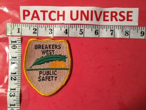 BREAKERS WEST PUBLIC SAFETY  FLA SHOULDER PATCH R023