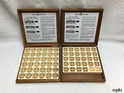 Kingsley Machine - 2-empty Wooden Type Boxes - Hot Foil Stamping Machine
